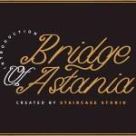 Bridge of Astania Monoline Font