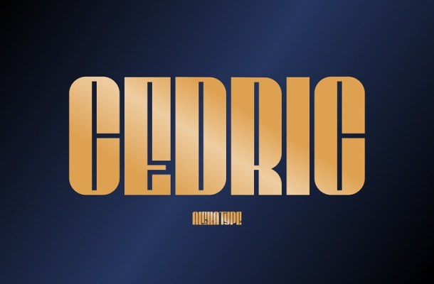 CEDRIC Display Font