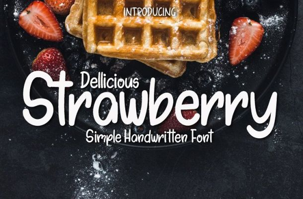 Dellicious Strawberry Handwritten Font
