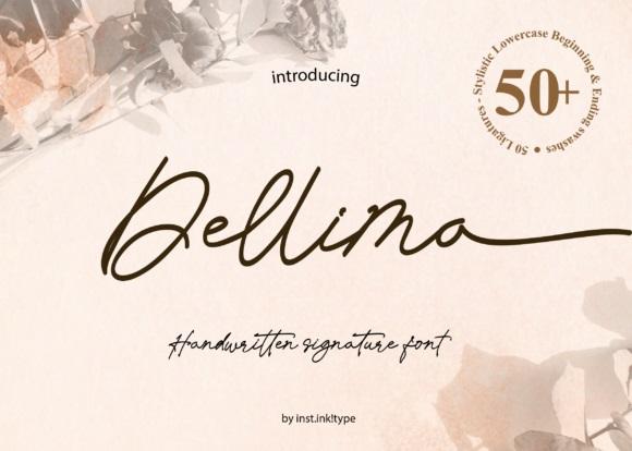 Dellima Signature Handwritten Font-1