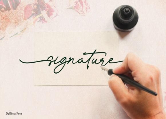 Dellima Signature Handwritten Font-3