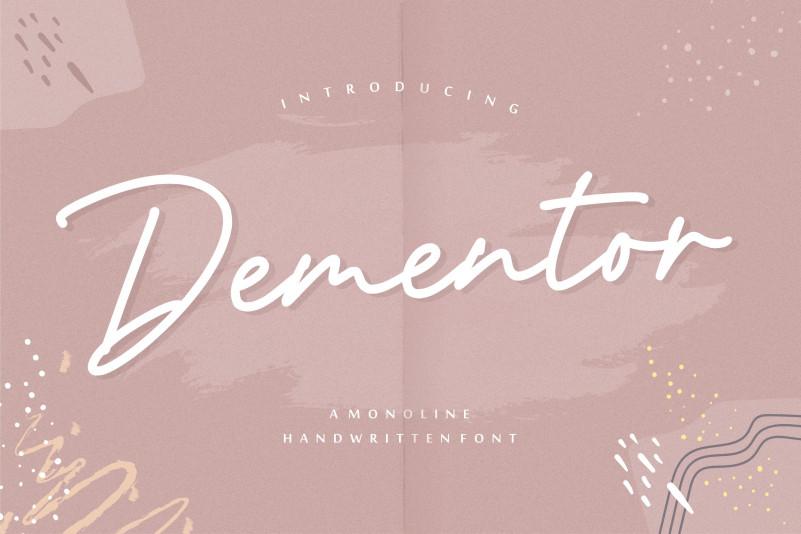 Dementor Handwritten Font-1