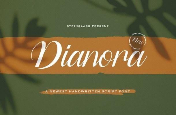 Dianora Handwritten Script Font