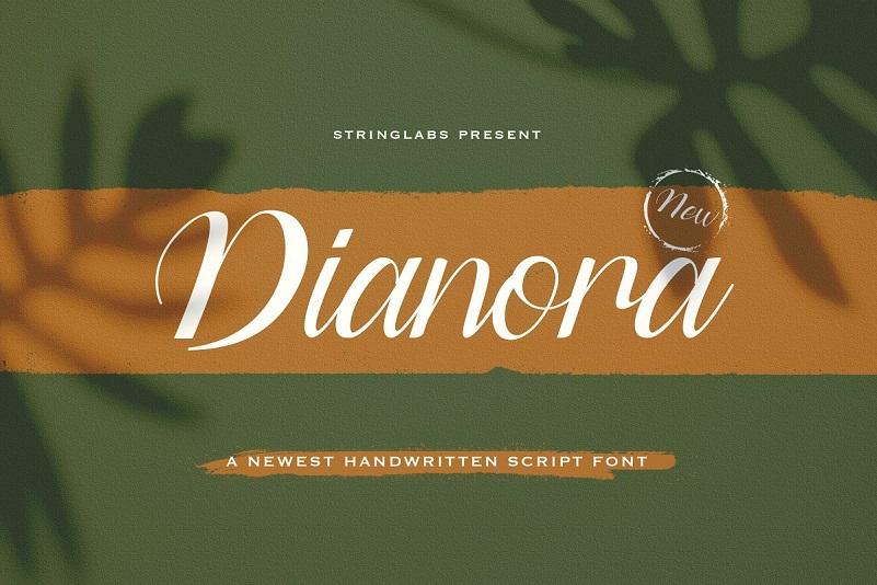 Dianora Handwritten Script Font-1