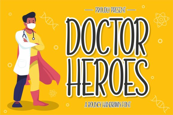 Doctor Heroes Cartoon Font-1