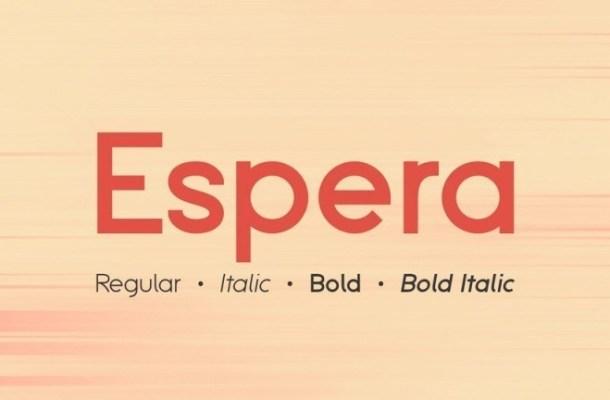 Espera Sans Serif Font Family