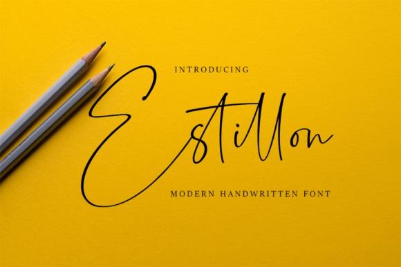 Estillon Handwritten Signature Font