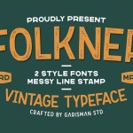 Folkner Display Vintage Font