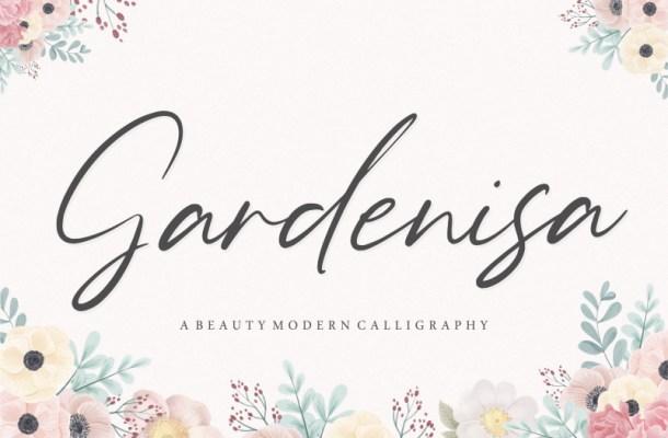 Gardenisa Beauty Calligraphy Font