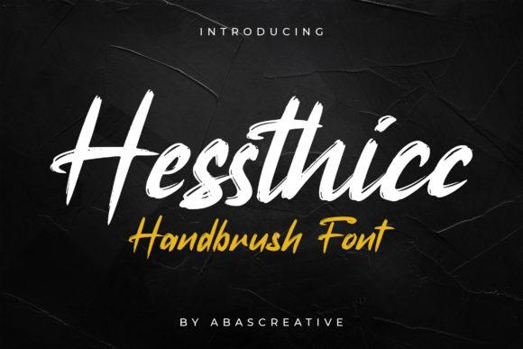 Hessthicc Handbrush Script Font