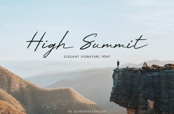 High Summit Signature Font