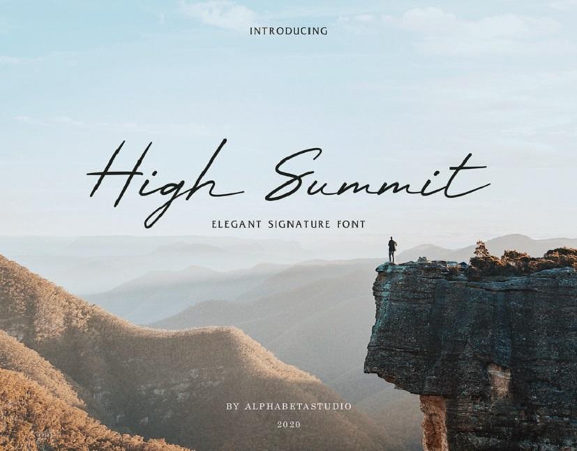 High Summit Signature Font-1