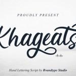 Khageats Script Font