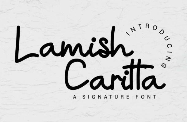 Lamish Caritta Handwritten Font