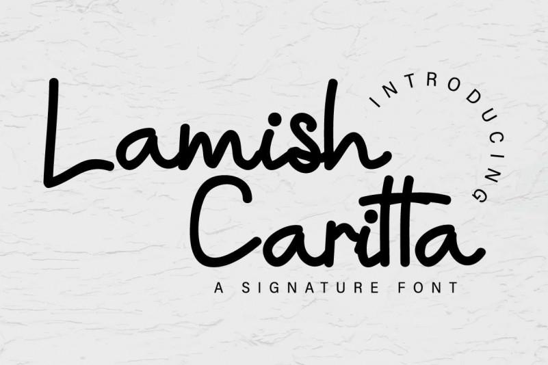 Lamish Caritta Handwritten Font-1