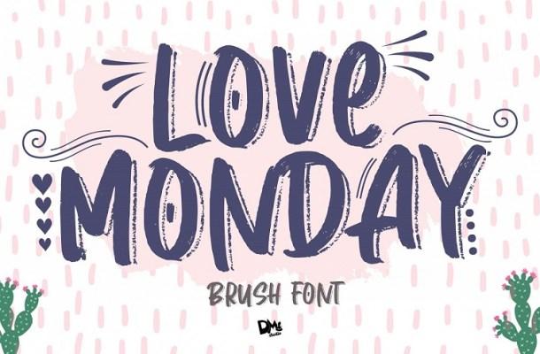 Love Monday Brush Font