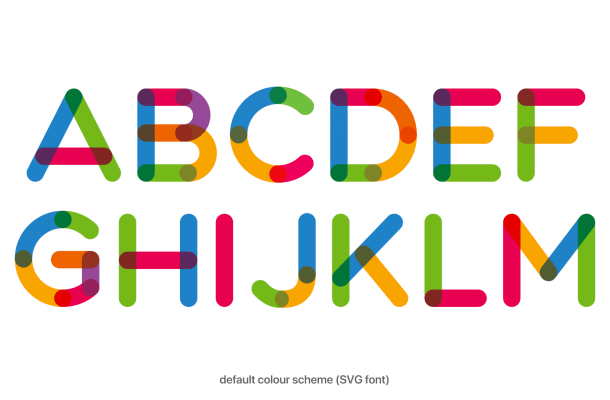 Multicolore Sans Serif Font