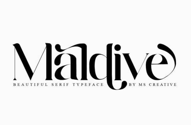 Maldive Modern Serif Font