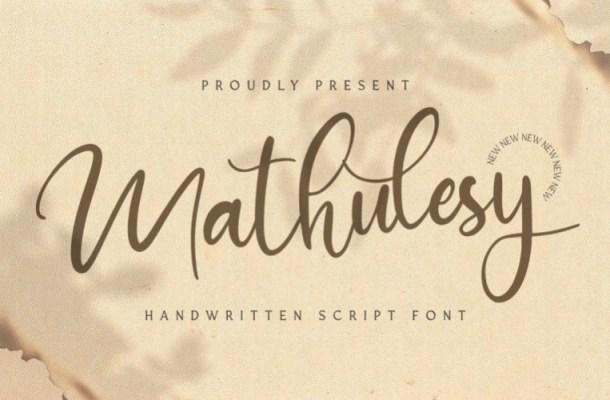 Mathulesy Handwritten Script Font