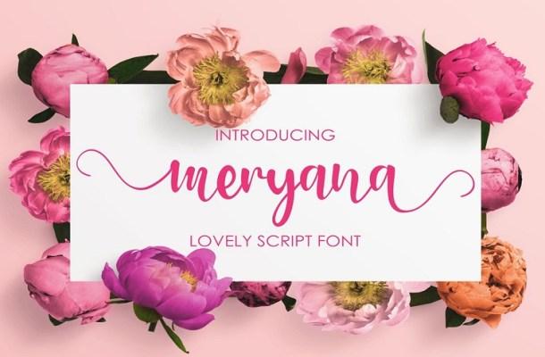 Meryana Lovely Script Font