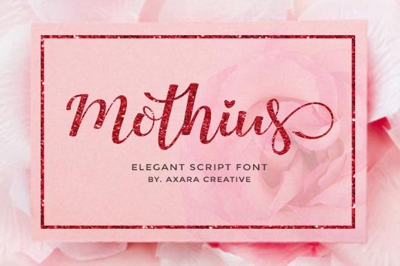 Mothius Calligraphy Script Font