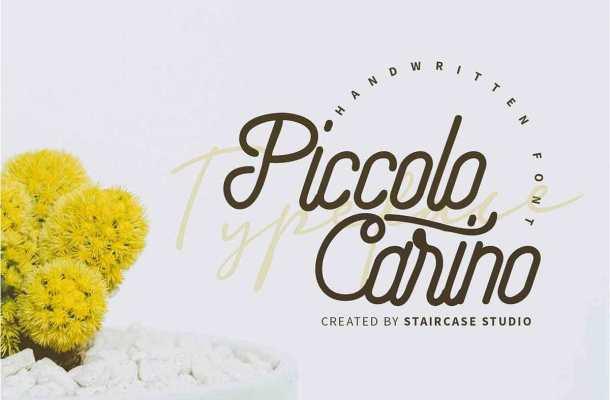 Piccolo Carino Monoline Script Font