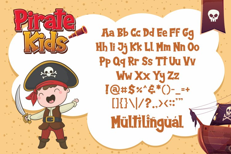 Pirate Kids Cartoon Font-3