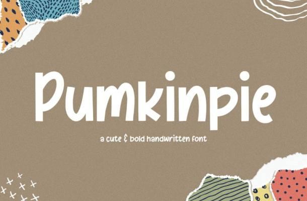 Pumkinpie Bold Handwritten Font