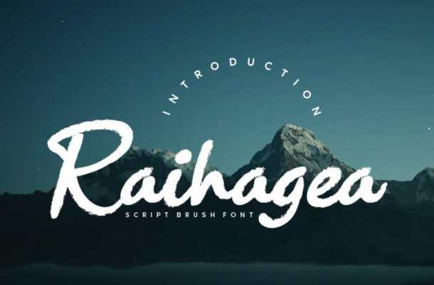 Raihagea Brush Script Font