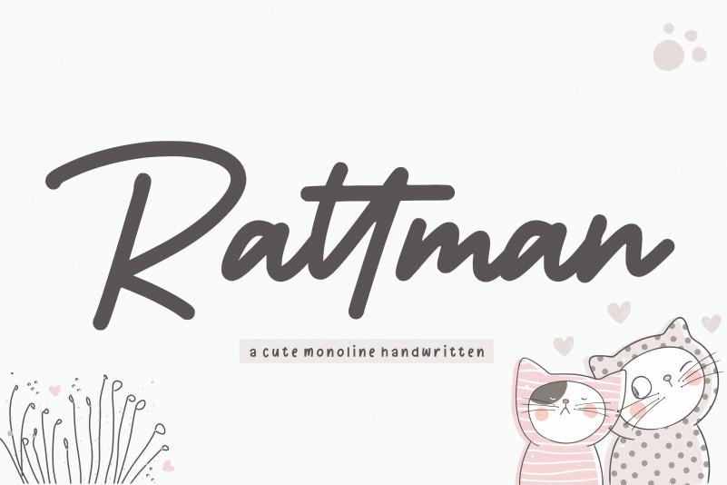 Rattman Handwritten Font-1
