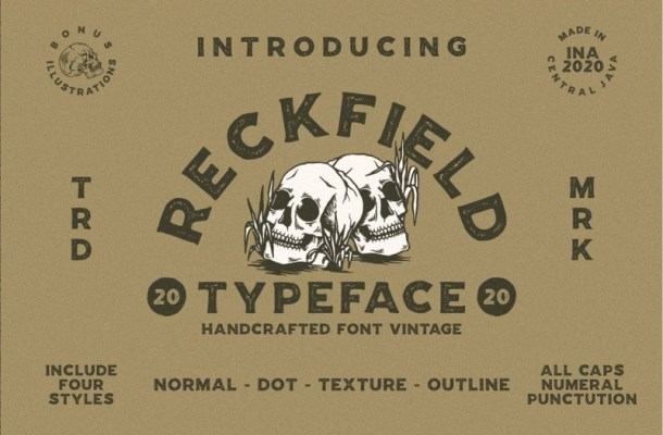 Reckfield Display Typeface-1