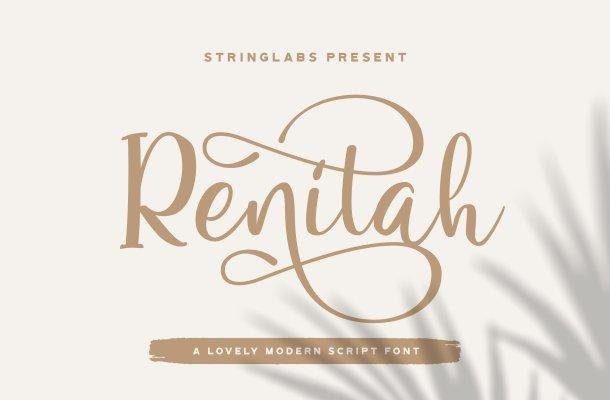 Renitah Lovely Calligraphy Font