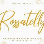 Rossatelly Handwritten Font