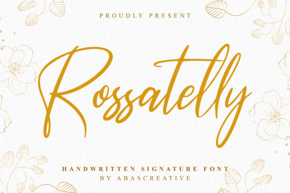 Rossatelly Handwritten Font-1