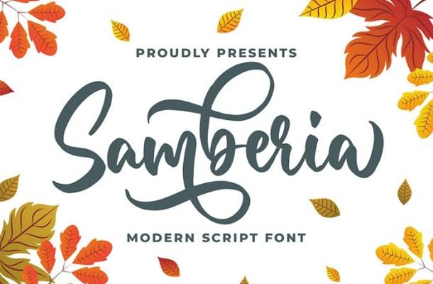 Samberia Calligraphy Script Font