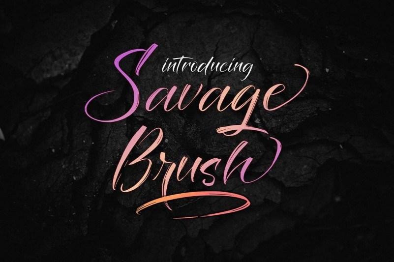 Savage Brush Font-1
