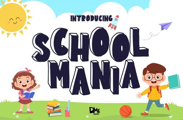 School Mania Display Font-1