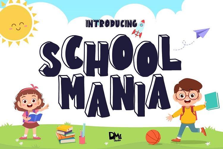 School Mania Display Font-1