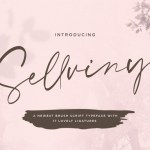 Sellviny Handwritten Brush Font
