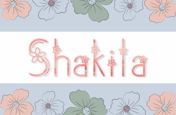 Shakila Display Font-1