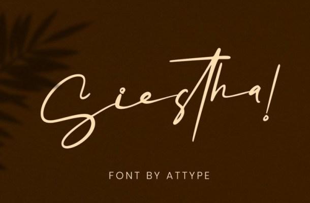 Siestha Signature Font