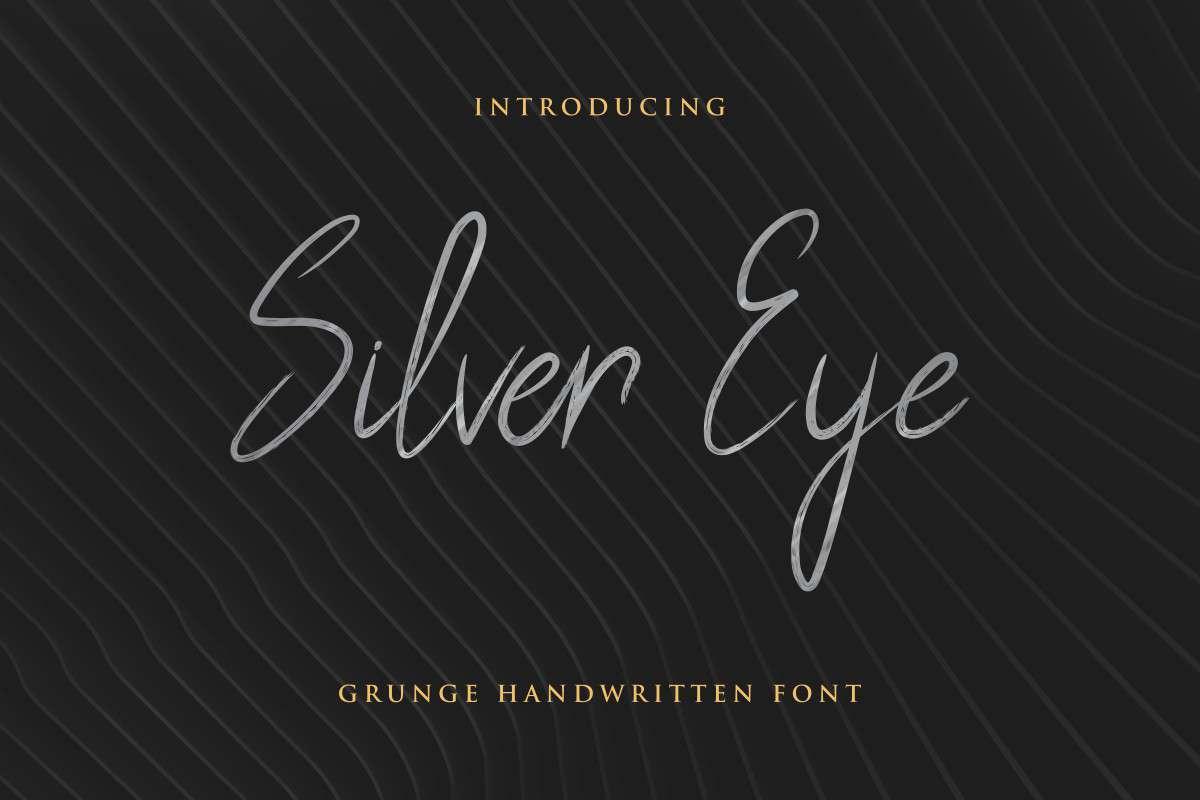 Silver Eye Grunge Handwritten Font-1