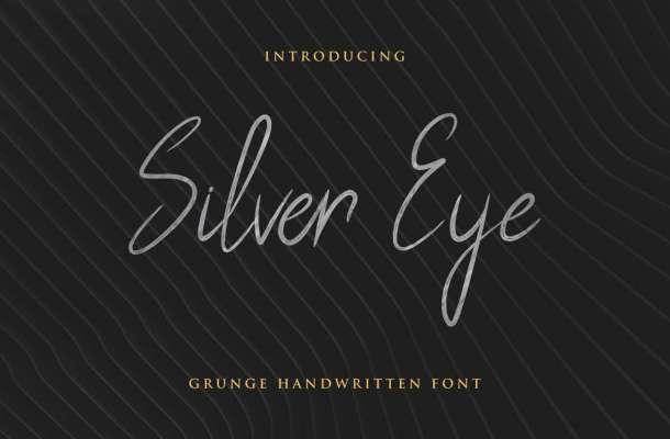 Silver Eye Grunge Handwritten Font