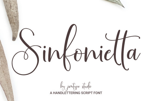 Sinfonietta Handwritten Script Font