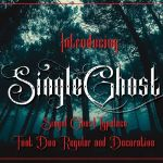 Single Ghost Tattoo Font