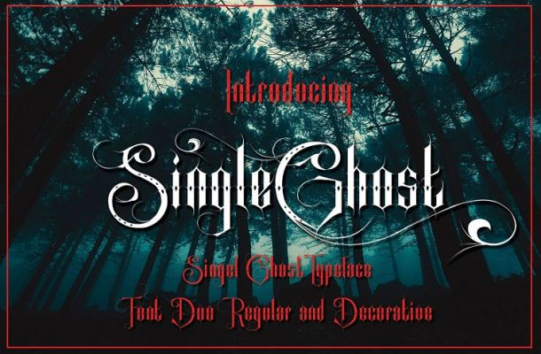 Single Ghost Tattoo Font-1