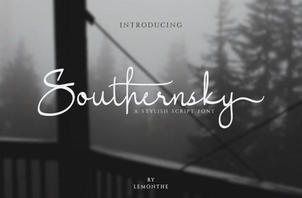 Southernsky Handwritten Font