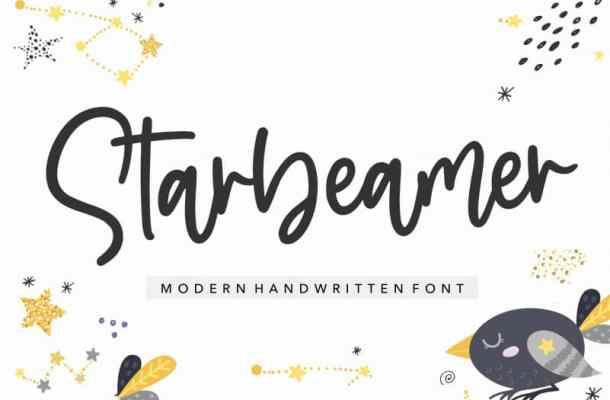 Starbeamer Handwritten Font