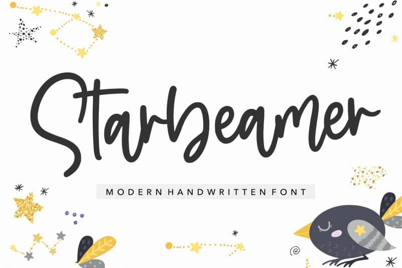 Starbeamer Handwritten Font-1