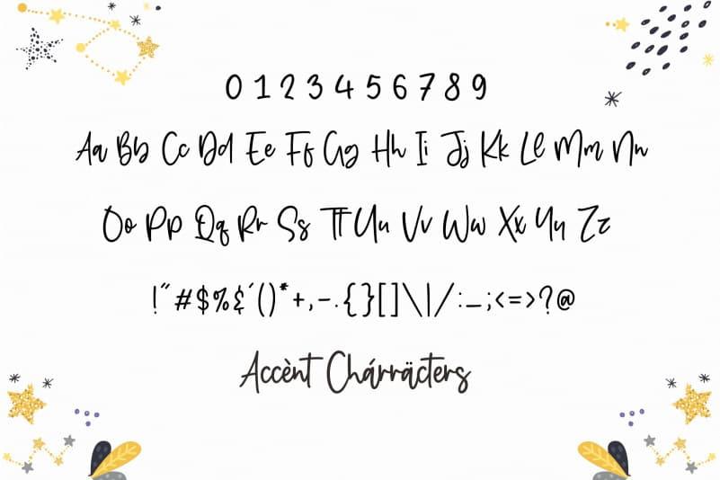 Starbeamer Handwritten Font-3